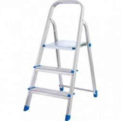 Лестница-стремянка алюминиевая матовая 3-х ступенчатая Ам703 (60 см)