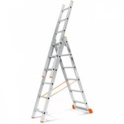 Лестница алюминиевая трехсекционная П3 9308 (241/374/539 см)