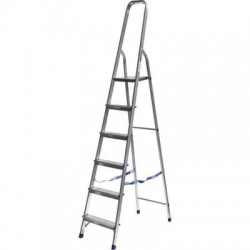 Лестница-стремянка алюминиевая матовая 6-ти ступенчатая Ам706 (124 см)