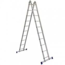 Лестница шарнирная алюминиевая двухсекционная Т 205 2х5 (145/286 см)