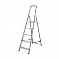 Лестница-стремянка алюминиевая матовая 5-ти ступенчатая Ам705 (103 см)