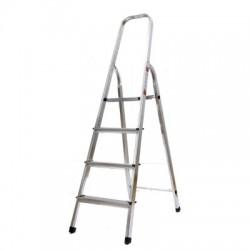 Лестница-стремянка алюминиевая матовая 4-х ступенчатая Ам704 (82 см)
