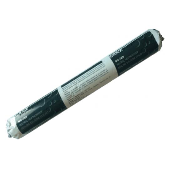 Атмосферостойкий силиконовый нейтральный герметик SANZ WS-789 черный/серый/белый (600 мл) для герметизации строительных швов